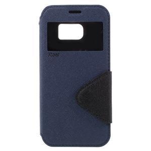 Diary pouzdro s okýnkem na Samsung Galaxy S7 - tmavěmodré - 3
