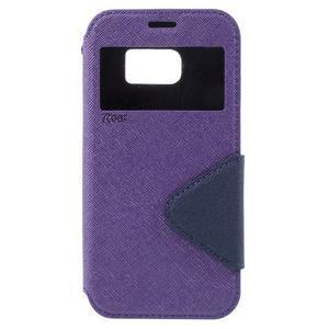 Diary pouzdro s okýnkem na Samsung Galaxy S7 - fialové - 3