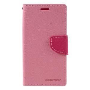 Goosper PU kožené pouzdro na Samsung Galaxy S7 - růžové - 3