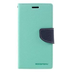 Goosper PU kožené pouzdro na Samsung Galaxy S7 - cyan - 3