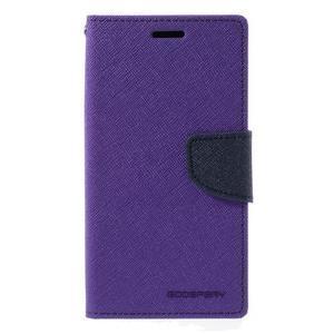 Goosper PU kožené pouzdro na Samsung Galaxy S7 - fialové - 3