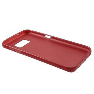 Brush gelový obal na mobil Samsung Galaxy S7 - červený - 3