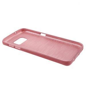 Brush gelový obal na mobil Samsung Galaxy S7 - růžový - 3