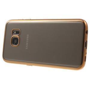 Gelový obal se zlatým rámečkem na Samsung Galaxy S7 - 3