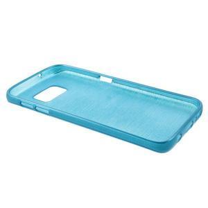 Brush gelový obal na mobil Samsung Galaxy S7 - modrý - 3