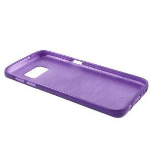 Brush gelový obal na mobil Samsung Galaxy S7 - fialový - 3