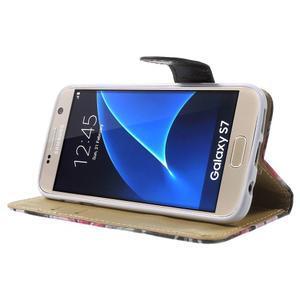 Flower pouzdro na mobil Samsung Galaxy S7 - černé pozadí - 3