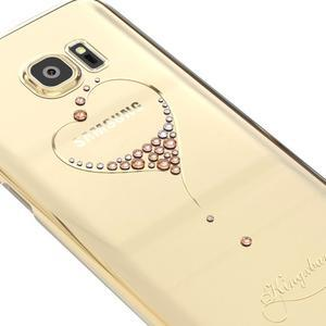 Swarowski plastový obal s kamínky na Samsung Galaxy S7 - srdce - 3
