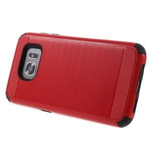 Odolný dvoudílný obal na Samsung Galaxy S7 edge - červený - 3
