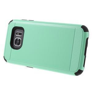 Odolný dvoudílný obal na Samsung Galaxy S7 edge - azurový - 3