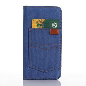 Jeans pouzdro na mobil Samsung Galaxy S7 edge - modré - 3