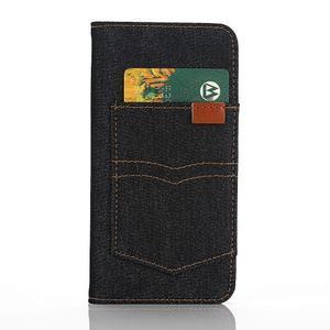 Jeans pouzdro na mobil Samsung Galaxy S7 edge - černomodré - 3