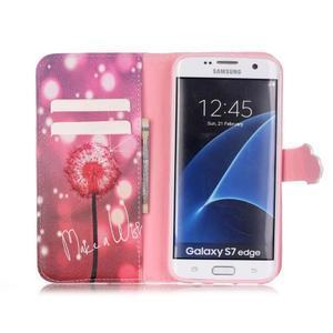 Cross peněženkové pouzdro na Samsung Galaxy S7 edge - pampeliška - 3