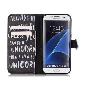 Cross peněženkové pouzdro na Samsung Galaxy S7 edge - unicorn - 3