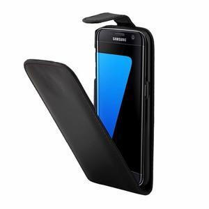 Flipové pouzdro na mobil Samsung Galaxy S7 edge - černé - 3