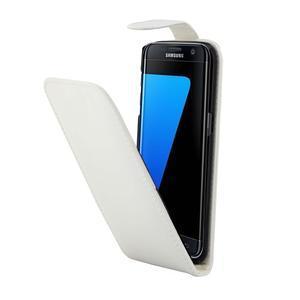 Flipové pouzdro na mobil Samsung Galaxy S7 edge - bílé - 3