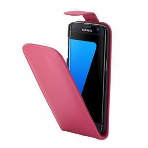 Flipové pouzdro na mobil Samsung Galaxy S7 edge - rose - 3