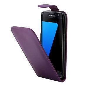 Flipové pouzdro na mobil Samsung Galaxy S7 edge - fialové - 3