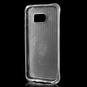 Glitter gelový obal na Samsung Galaxy S7 edge - transparentní - 3
