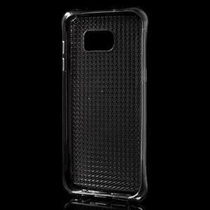 Glitter gelový obal na Samsung Galaxy S7 edge - šedý - 3