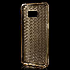 Glitter gelový obal na Samsung Galaxy S7 edge - zlatý - 3