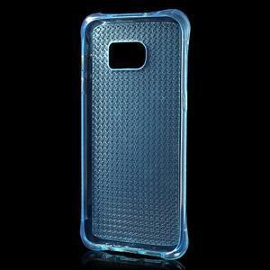 Glitter gelový obal na Samsung Galaxy S7 edge - modrý - 3