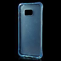 Glitter gelový obal na Samsung Galaxy S7 edge - modrý - 3/5