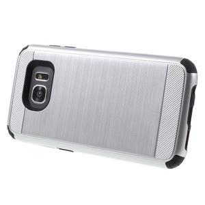 Odolný dvoudílný obal na Samsung Galaxy S7 edge - stříbrný - 3