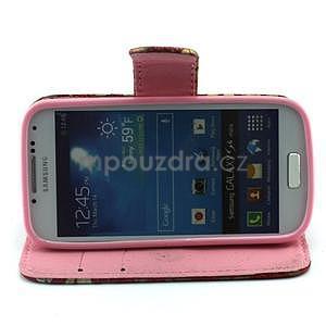 Pusinky peněženkové pouzdro na Samsung Galaxy S4 Mini - červené - 3