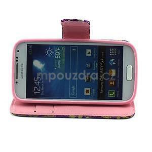 Pusinky peněženkové pouzdro na Samsung Galaxy S4 Mini - fialové - 3