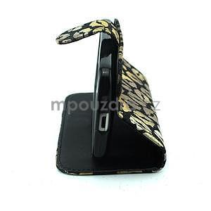 Pusinky peněženkové pouzdro na Samsung Galaxy S4 Mini - černé - 3