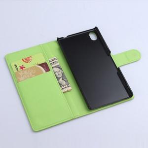Zelené PU kožené pouzdro na Sony Xperia M4 Aqua - 3