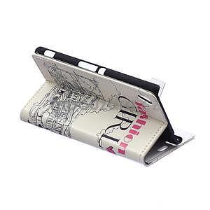 Pěněženkové pouzdro pro Sony Xperia M4 Aqua - modní styl - 3