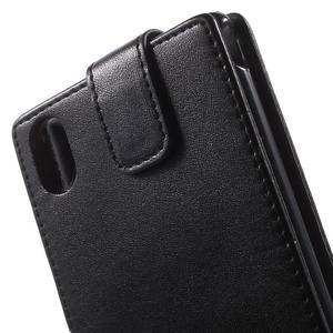 Černé flipové pouzdro na Sony Xperia M4 Aqua - 3