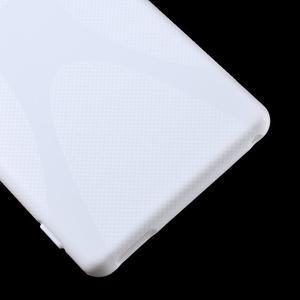 Bílý gelový obal na Sony Xperia M4 Aqua - 3