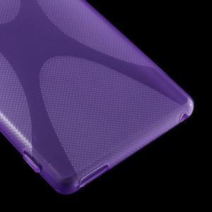 Fialový gelový obal na Sony Xperia M4 Aqua - 3