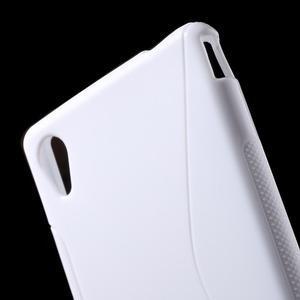 Bílý s-line pružný obal na Sony Xperia M4 Aqua - 3