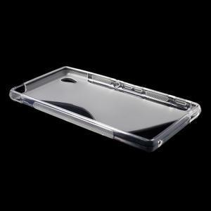 Transparentní s-line pružný obal na Sony Xperia M4 Aqua - 3
