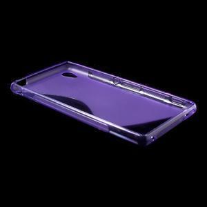 Fialový s-line pružný obal na Sony Xperia M4 Aqua - 3