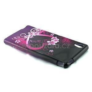 Gelový kryt na Sony Xperia M4 Aqua - květinové srdce - 3