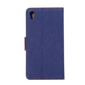 Jeans peněženkové pouzdro Sony Xperia Z5 - tmavěmodré - 3