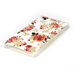 Softy gelový obal na mobil Sony Xperia Z5 - květiny - 3