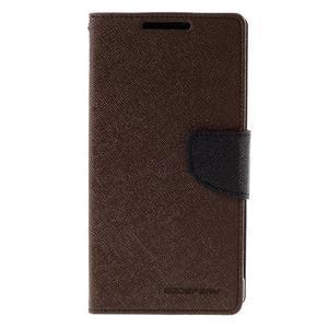 Mercur peněženkové pouzdro na Sony Xperia Z5 - hnědé - 3