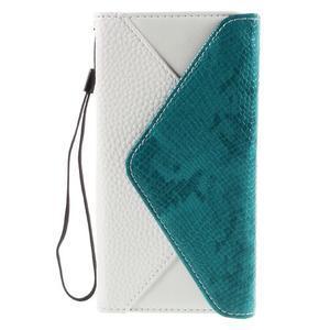 Stylové peněženkové pouzdro Sony Xperia Z5 - modré - 3