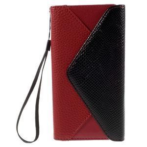 Stylové peněženkové pouzdro Sony Xperia Z5 - červené - 3