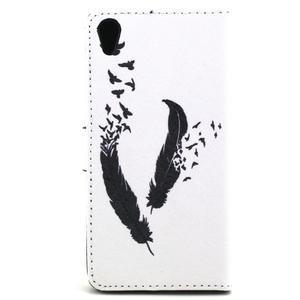 Cross peněženkové pouzdro na Sony Xperia Z5 - ptačí peříčka - 3