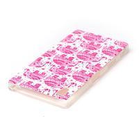 Softy gelový obal na mobil Sony Xperia Z5 - růžoví - 3/3