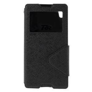 Diary pouzdro s okýnkem na Sony Xperia Z5 - černé - 3
