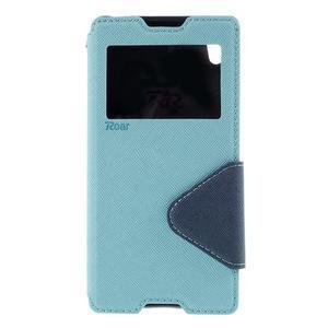 Diary pouzdro s okýnkem na Sony Xperia Z5 - světlemodré - 3