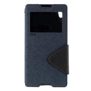 Diary pouzdro s okýnkem na Sony Xperia Z5 - tmavěmodré - 3